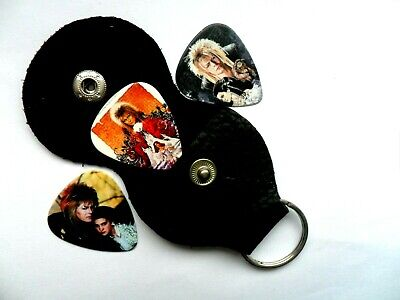 $ CDN7.03 • Buy Three   DAVID BOWIE Labyrinth     Guitar  Picks With Keyring Holder