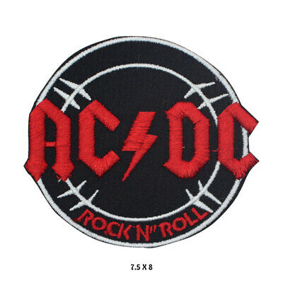 £1.99 • Buy ACDC Rock Music Band Logo Embroidered Patch Iron On Sew On Badge For Clothes