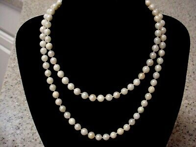 $79.99 • Buy VINTAGE 28  - 6mm - CULTURED PEARL NECKLACE - 14K YELLOW GOLD CLOSURE