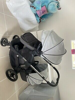 ICandy ORANGE Double Pram In Grey • 450£