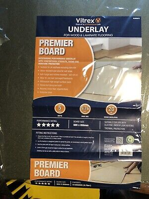 Vitrex Premier Wood & Laminate Foam Underlay Boards 5mm Deep (13 Boards) • 9.99£