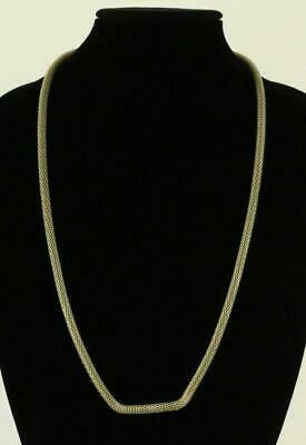 $ CDN36.78 • Buy MODERN Costume Jewelry KATE SPADE Saturday Champagne 6MM Gold Mesh Necklace 32