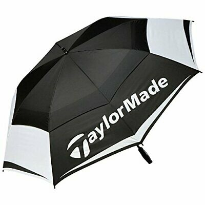 TaylorMade Tour Preferred 64 Inch Double Canopy Golf Umbrella, Black, One Size • 45.99£