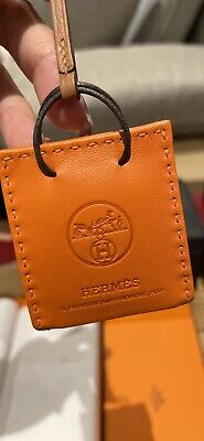 AU550 • Buy HERMES De Sac Orange Bag Charm Brand New In Box Rodeo Birkin Kelly