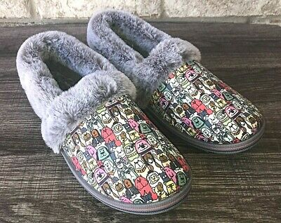 Skechers Bobs Too Cozy-Snuggle Rovers Womens Slipper Size 9 Grey/Multi Slip On • 22.42£