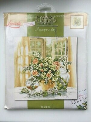Counted Cross Stitch Kit By Lanarte Flowers & Gardens Collection A Sunny Morning • 26£