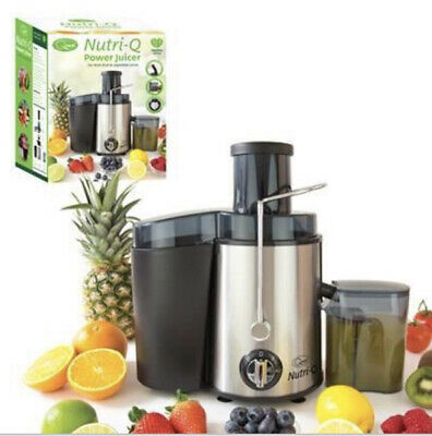 Nutri-Q Power Juicer Amazing For FRESH FRUIT And VEGETABLE JUICE • 38.99£