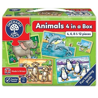£6.99 • Buy Orchard Toys Animals - 4 In A Box Jigsaw Puzzle