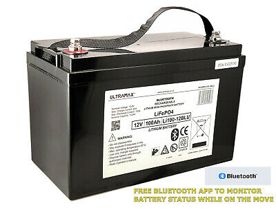 £798.99 • Buy 12v 100Ah LiPO Battery For Power Storage In Off-grid Solar System With Bluetooth