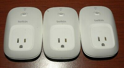 Three Belkin Wemo Smart Wall Plug Electrical Outlet Wifi IPhone Android • 12.30£