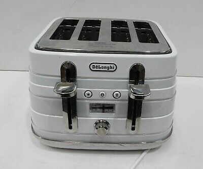 AU25.49 • Buy DeLonghi Avvolta, 4 Slice Toaster, CTA4003W, White (2 Slice Only Working)