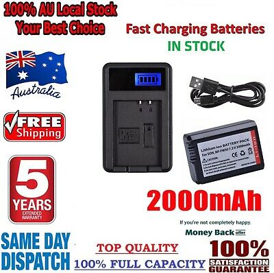 AU24.95 • Buy *2021* NP-FW50 Battery + USB Charger For Sony Alpha A3000 A5000 A6000 A6500