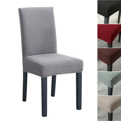 AU7.99 • Buy Stretch Dining Chair Cover Washable Removable Slipcover Knitted Spandex Covers
