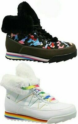 £17.95 • Buy Rocket Dog Ladies Icee Fur Winter Snow Warm Hiking Boots Trainers Olive & White