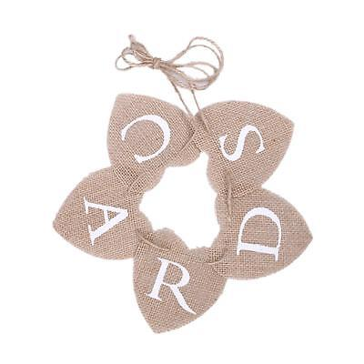 Hessian Burlap Rustic Vintage Wedding Party CARDS Mini Bunting Sign Banner UK • 4.64£