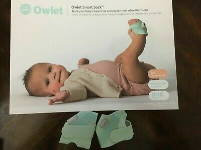 $ CDN38.38 • Buy Owlet Smart Sock 3rd Generation Fabric Sock Only New Right Size 2 Over 12 LBS