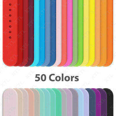 AU6.53 • Buy Silicone Band Strap For Apple Watch Sports Series 6 5 4 3 2 1 SE 38/40/42/44mm