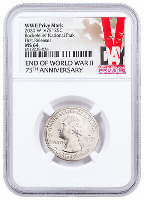 $ CDN84.58 • Buy 2020 W Clad Marsh-Billings-Rockefeller Natl Park Quarter NGC MS64 FR V-Day Label