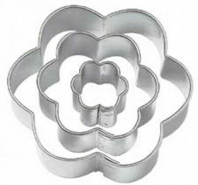 PME Stainless Steel FLOWER Blossom Cutters Set Of 3 Cake Sugarpaste Biscuit Art • 2.89£