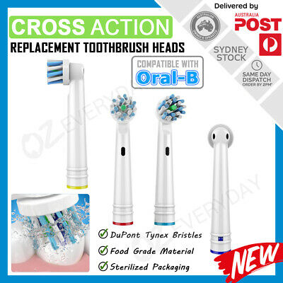 AU6.40 • Buy CROSS ACTION Oral-B Electric Toothbrush Compatible Replacement Brush Heads X4pcs