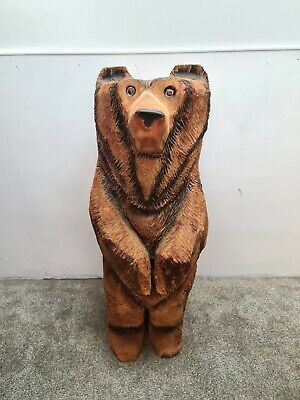 £405 • Buy Chainsaw Carved Wooden Bear Garden Ornament Sculpture