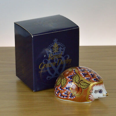 £69.99 • Buy Royal Crown Derby Paperweight Orchard Hedgehog Collector's Guild Gold Stopper