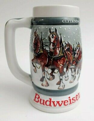 $ CDN24.76 • Buy 1982 Budweiser 50th Anniversary Clydesdale's Holiday Beer Stein Mug 1933-1983