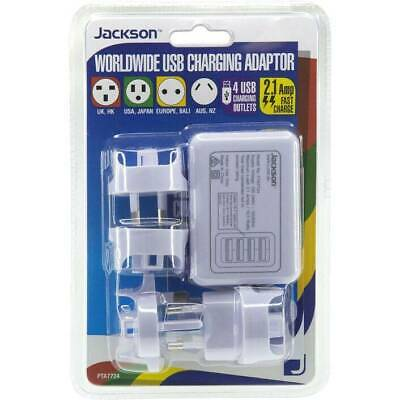 AU20 • Buy Jackson Outbound Multi Country Travel Adaptor With 4 USB Port