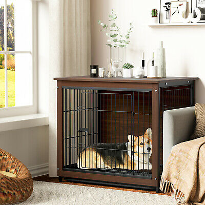 £123.99 • Buy Multifunction Pet Dog Crate / End Table Metal Barrier For Indoor Rabbit Dog Cage