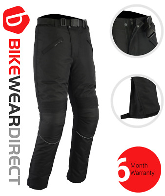Motorbike Motorcycle Trousers Waterproof Cordura With CE Armour Protection Biker • 39.99£