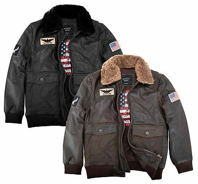 £119.99 • Buy Mens Real Leather US Aviator Air Force Pilot Flying Bomber Jacket