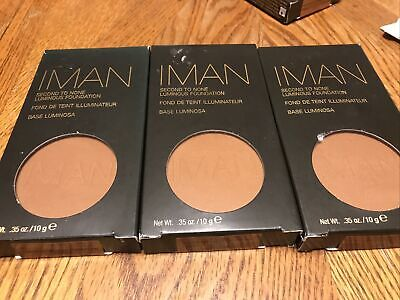 3 Iman Second To None Luminous Foundation Earth 2 - 0.35 Oz FREE SHIP NEW IN BOX • 19.16£
