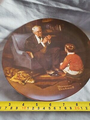 """$ CDN25 • Buy Vintage Norman Rockwell """"The Tycoon"""" Collector Plate"""