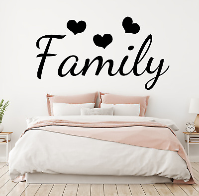 Wall Art Stickers Family Love Bedroom  Living Room Home Decals, Bedroom Quotes D • 3.99£