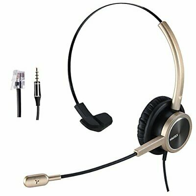 Telephone Headset RJ9 For Landlines Phone Call Center With Noise Cancelling M... • 29.63£