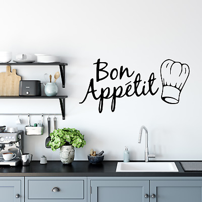 £3.99 • Buy Wall Art Stickers Bon Appetit Kitchen Home Decor Wall Decals, DIY Quotes D