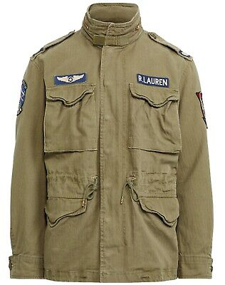 $299.99 • Buy Polo Ralph Lauren Military Army M-65 Patched Officer Soldier Field Jacket Xxl