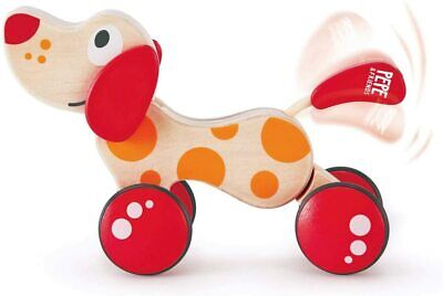 Walk-A-Long Puppy Wooden Pull Toy By Hape Award Winning Push For Toddlers Can Si • 21.61£