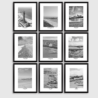 £3.99 • Buy UK Seaside Resorts, Travel Prints, Wall Art, Posters, Home Decor A3, A4 And A5