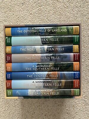 Wainwright Pictorial Guide To The Lakeland Fells Box Set Chris Jesty 2nd Edition • 150£