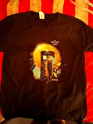 £9.95 • Buy Official BBC 13th Doctor Who 'Jodie & Tardis' (Black) T-Shirt Large