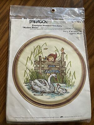 £10.25 • Buy 1980's Paragon Cross Stitch Kit Hummel MOTHER SWAN #0571 With Round Frame