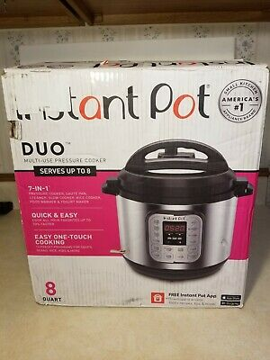 $ CDN68.36 • Buy Instant Pot DUO 8 Quart 7 In 1 Slow Cooker - Silver - Model: Duo 80 V2