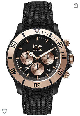 Ice Watch Urban 016307 Chrono Large 44mm Case Black Dial With Rose Gold Detail • 35£