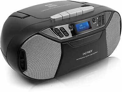 £44.95 • Buy DAB+ Radio CD & Cassette Player TDC-250 Portable USB  & Aux In