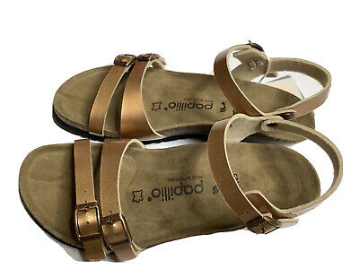 BIRKENSTOCK Sandals 38 PAPILLIO LEATHER Gold • 57.88£