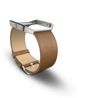 $ CDN43.18 • Buy Fitbit Blaze Leather Accessory Band & Frame Camel Brown Wrist Strap Small