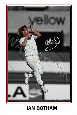 Ian Botham Large Signed 12x18 Inch Photograph Poster - Top Quality  • 13.99£