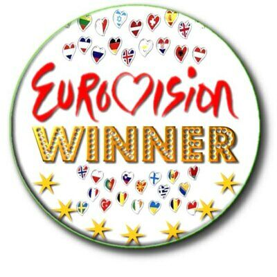 £2.99 • Buy  Eurovision Song Contest Winner Party Badge....large 55mm ... Beautiful