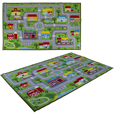 £14.99 • Buy Childrens Kids Play Mat Rug Town Road Map City Cars Toy Play Village 100 X 150cm